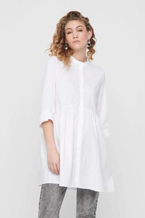 jurk ONLDITTE met plooien wit