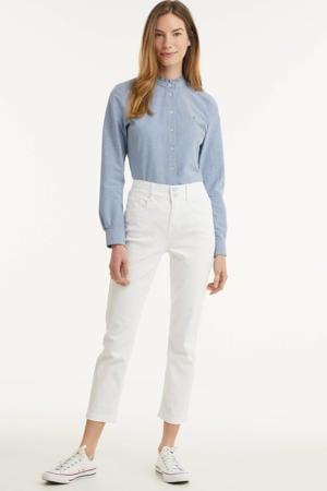 cropped high waist slim fit broek Tilly wit