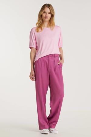 fijngebreide T-shirt Edona roze