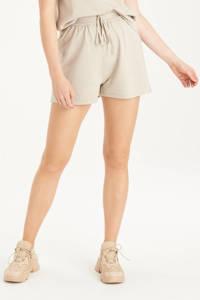 Shoeby Eksept high waist korte broek Knit zand, Zand