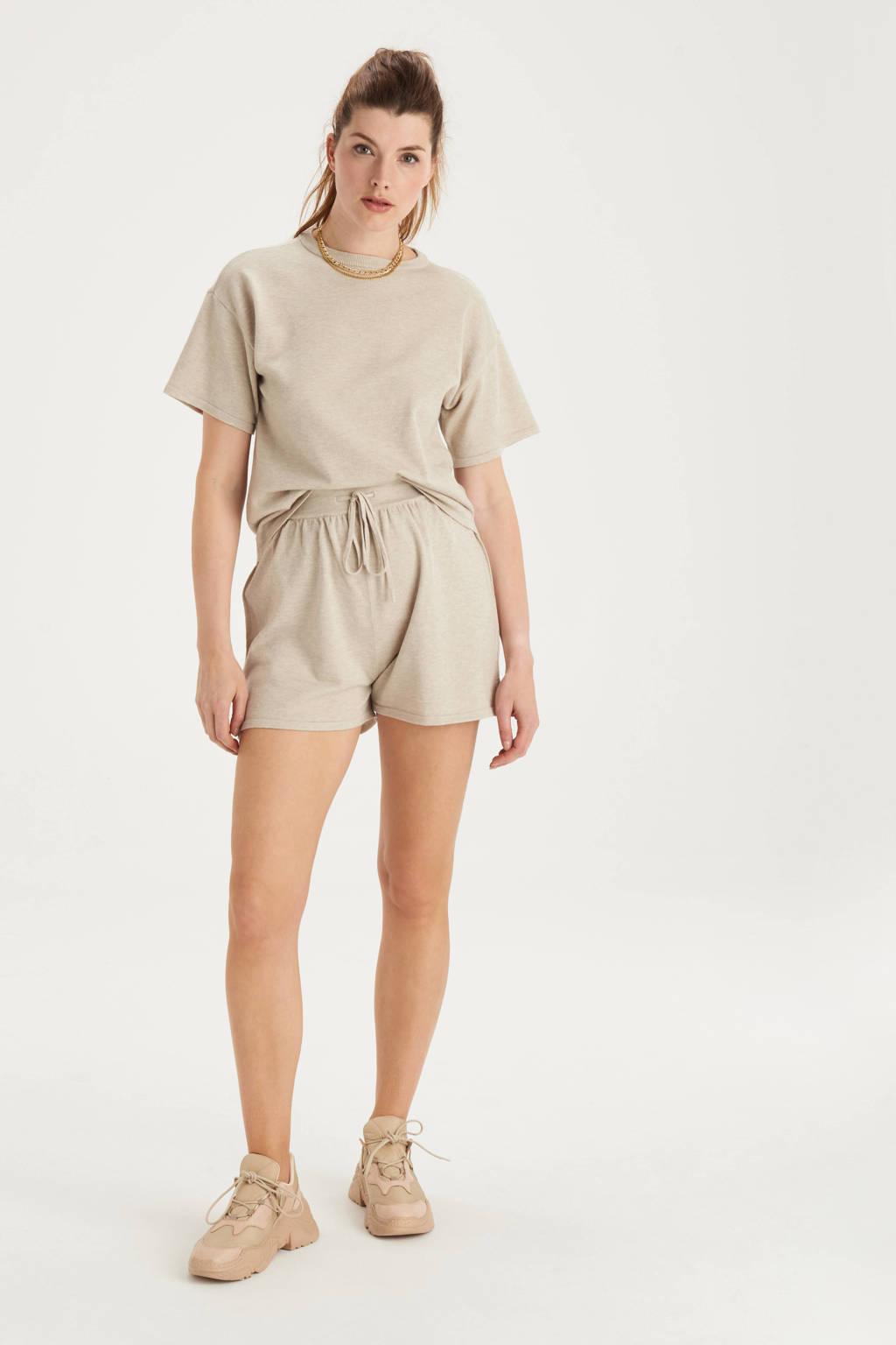 Shoeby Eksept fijngebreide T-shirt Knit zand, Zand