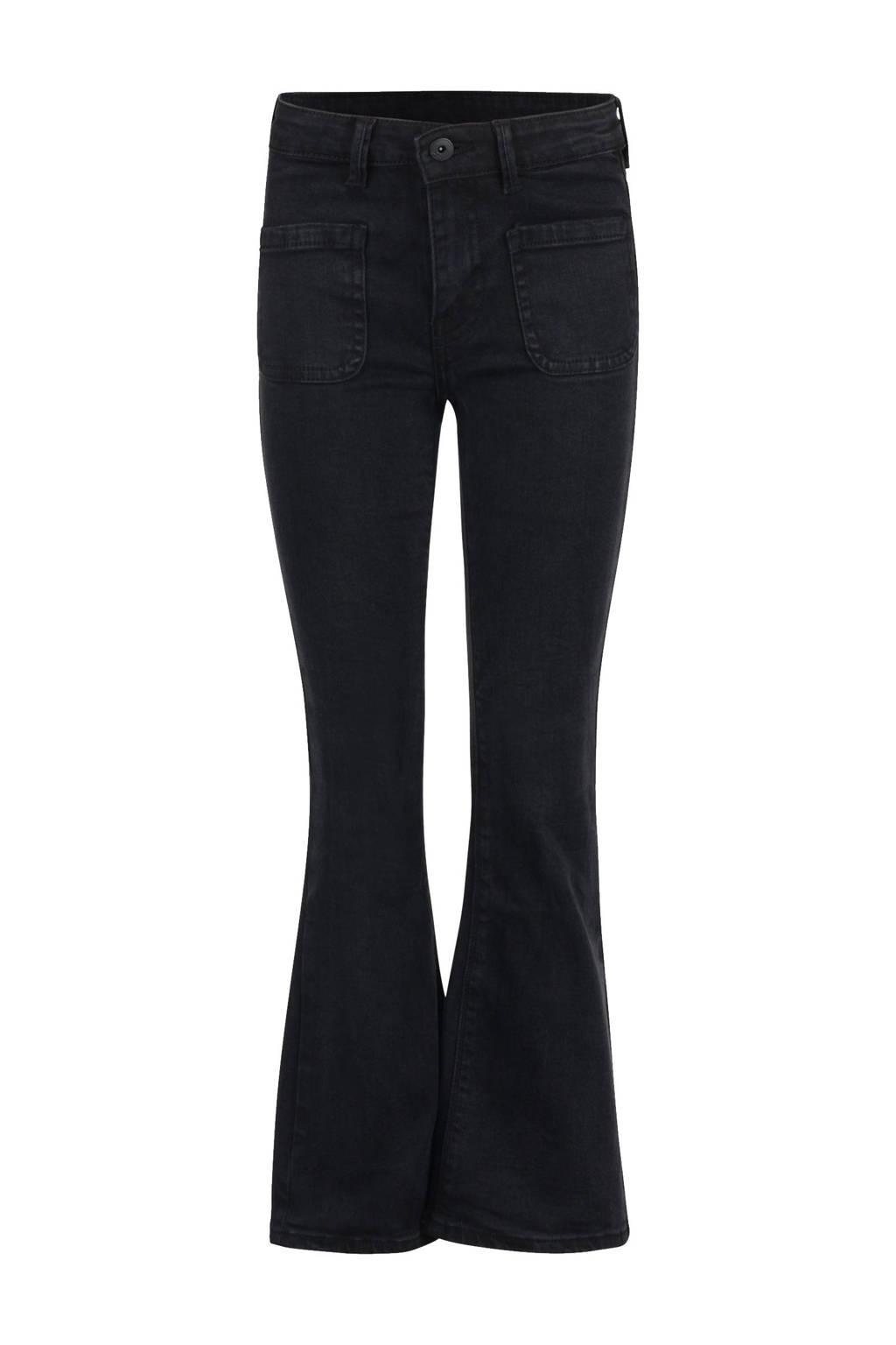 Shoeby Jill & Mitch flared jeans Susan zwart, Zwart