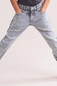 Shoeby Jill & Mitch high waist slim fit jeans Sara grijs, Grijs