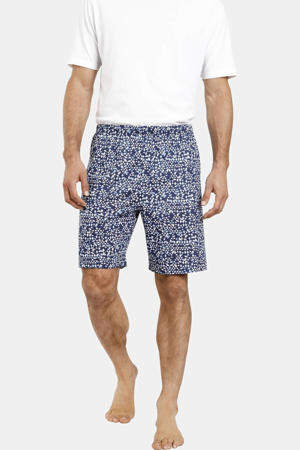 Plus Size pyjamashort Enno (set van 2) donkerblauw/blauw