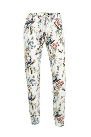 pyjamabroek met all over print ecru
