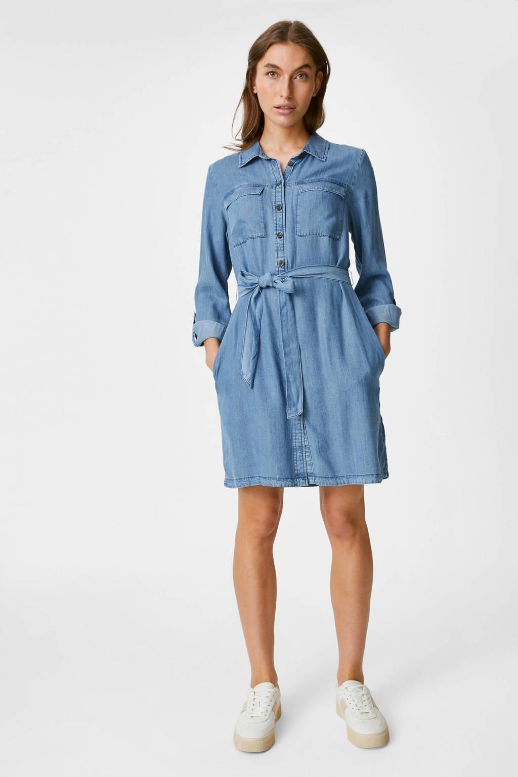 C&A Yessica blousejurk met ceintuur blauw, Blauw