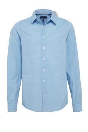 overhemd van biologisch katoen blauw