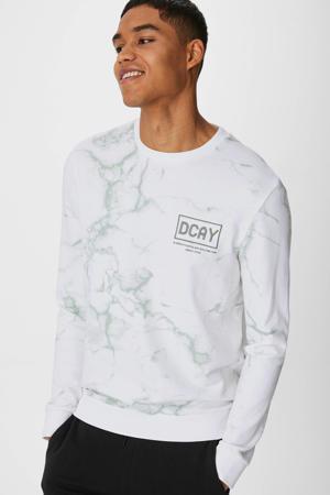 sweater van biologisch katoen wit