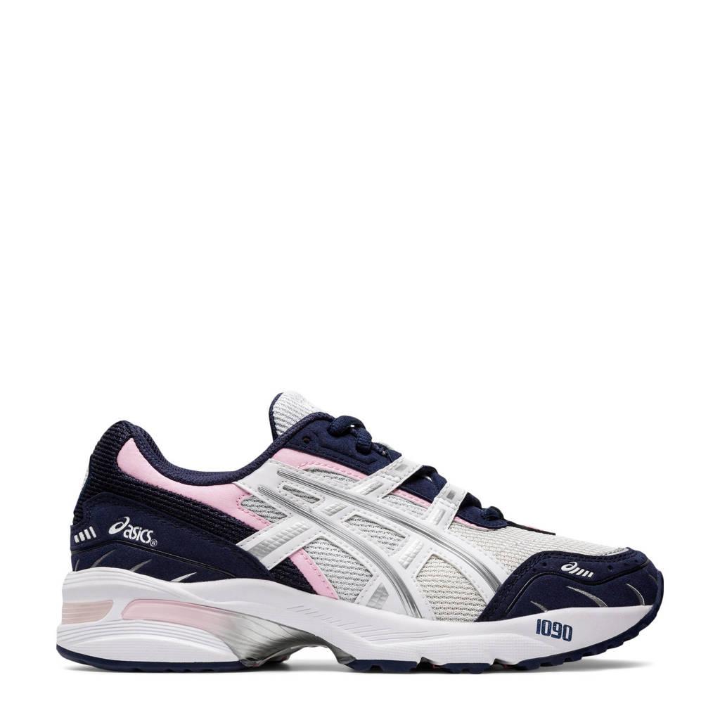 ASICS Gel-1090 Bnd hardloopschoenen wit/zilver, Wit/zilver/donkerblauw