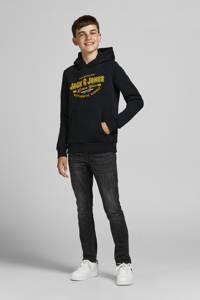 JACK & JONES JUNIOR hoodie JJELOGO met logo zwart, Zwart