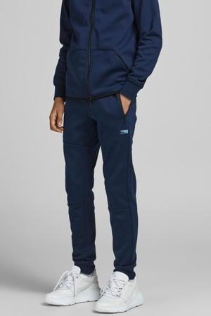 joggingbroek Classic met logo donkerblauw
