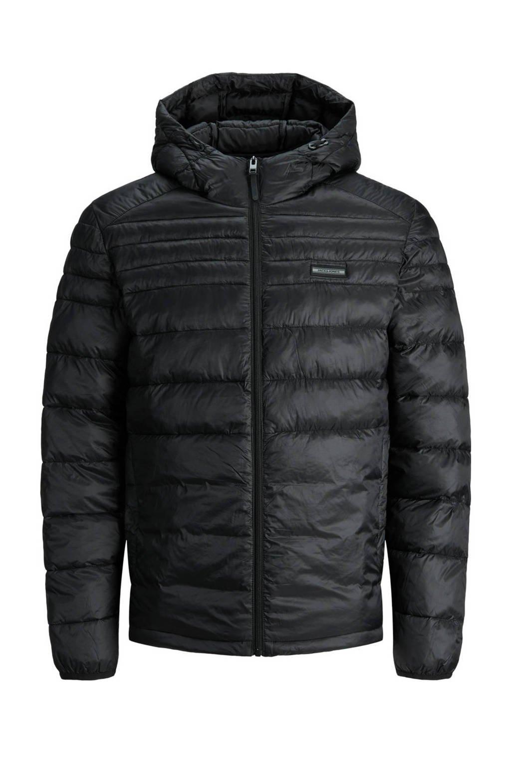 JACK & JONES JUNIOR gewatteerde winterjas JJEACE zwart, Zwart
