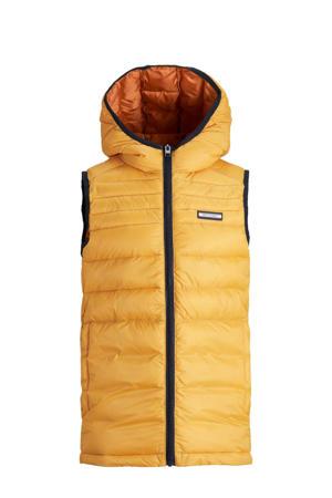 bodywarmer JJEACE geel/oranje