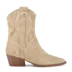 Rose Quartz  suède cowboylaarzen beige