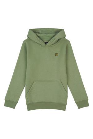 sweater met logo lichtgroen