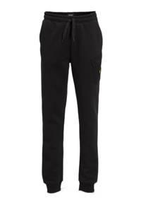 Lyle & Scott slim fit joggingbroek met logo zwart, Zwart