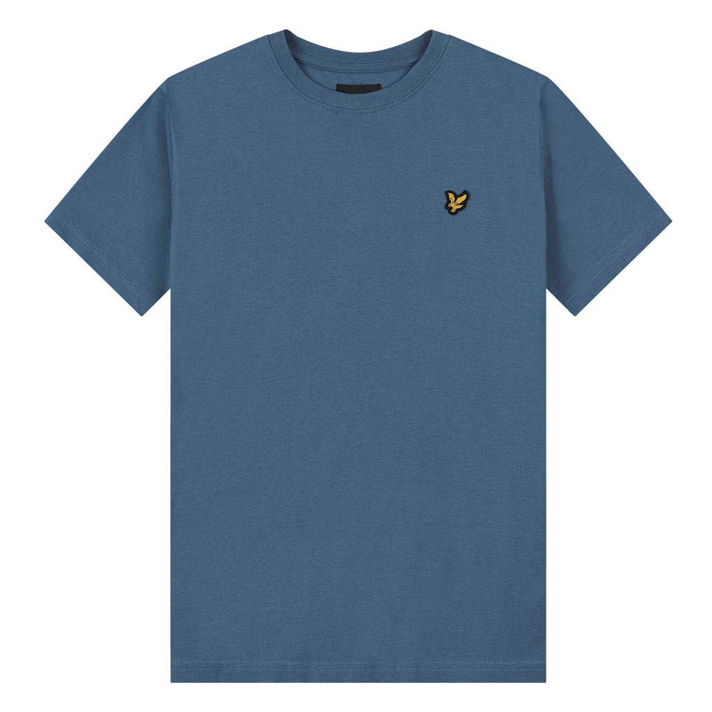 Lyle & Scott T-shirt met logo blauw, Blauw