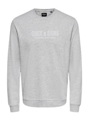 sweater Alberto van biologisch katoen grijs melange