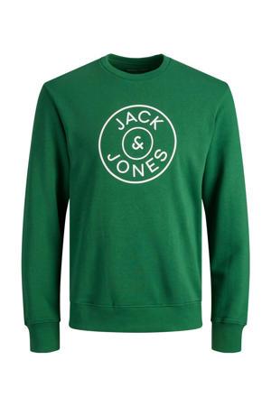 sweater JJMISARI met logo groen
