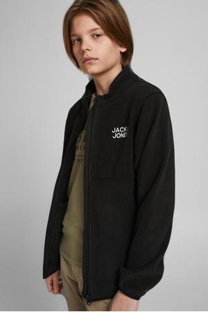 fleece vest JJHYPE met logo zwart
