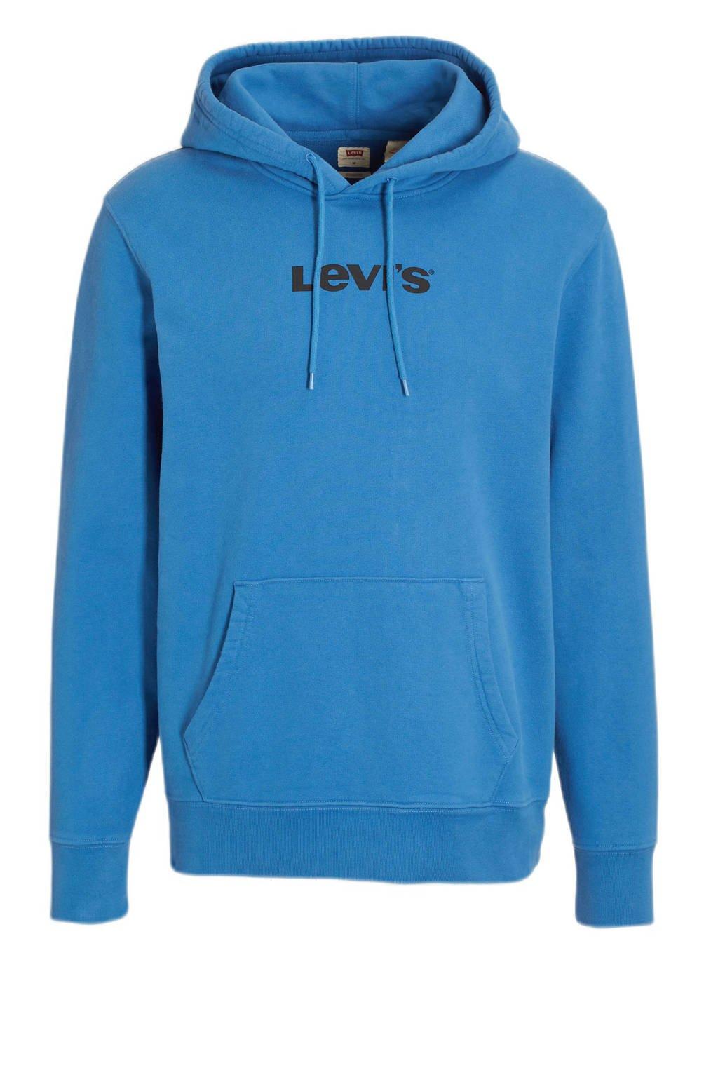 Levi's hoodie met logo blauw, Blauw