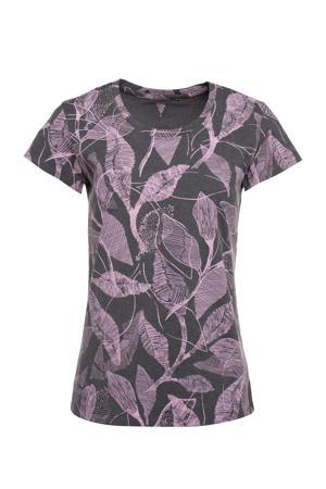 sport T-shirt donkergrijs/roze