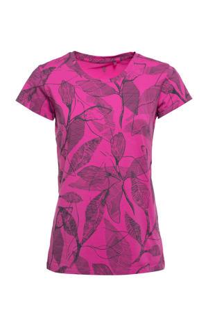sport T-shirt roze/grijs