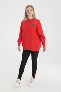 Shoeby Eksept sweater Bright met printopdruk rood, Rood