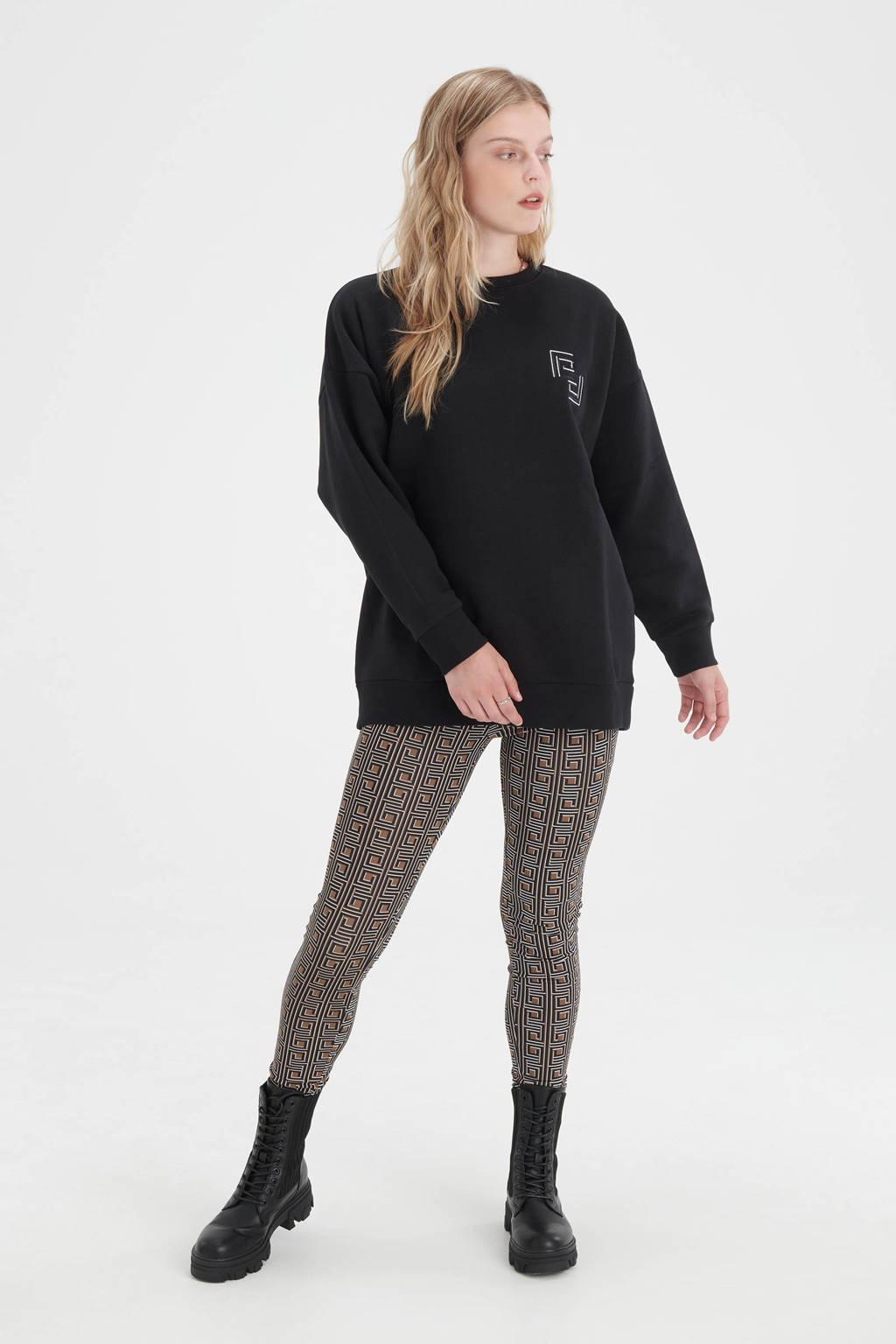 Shoeby Eksept sweater met borduursels zwart  Bright, Zwart