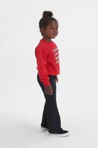 Shoeby Jill & Mitch high waist skinny fit flared jeans Jasmijn darkdenim, Darkdenim