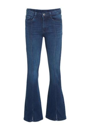 high waist skinny fit flared jeans Jasmijn darkdenim