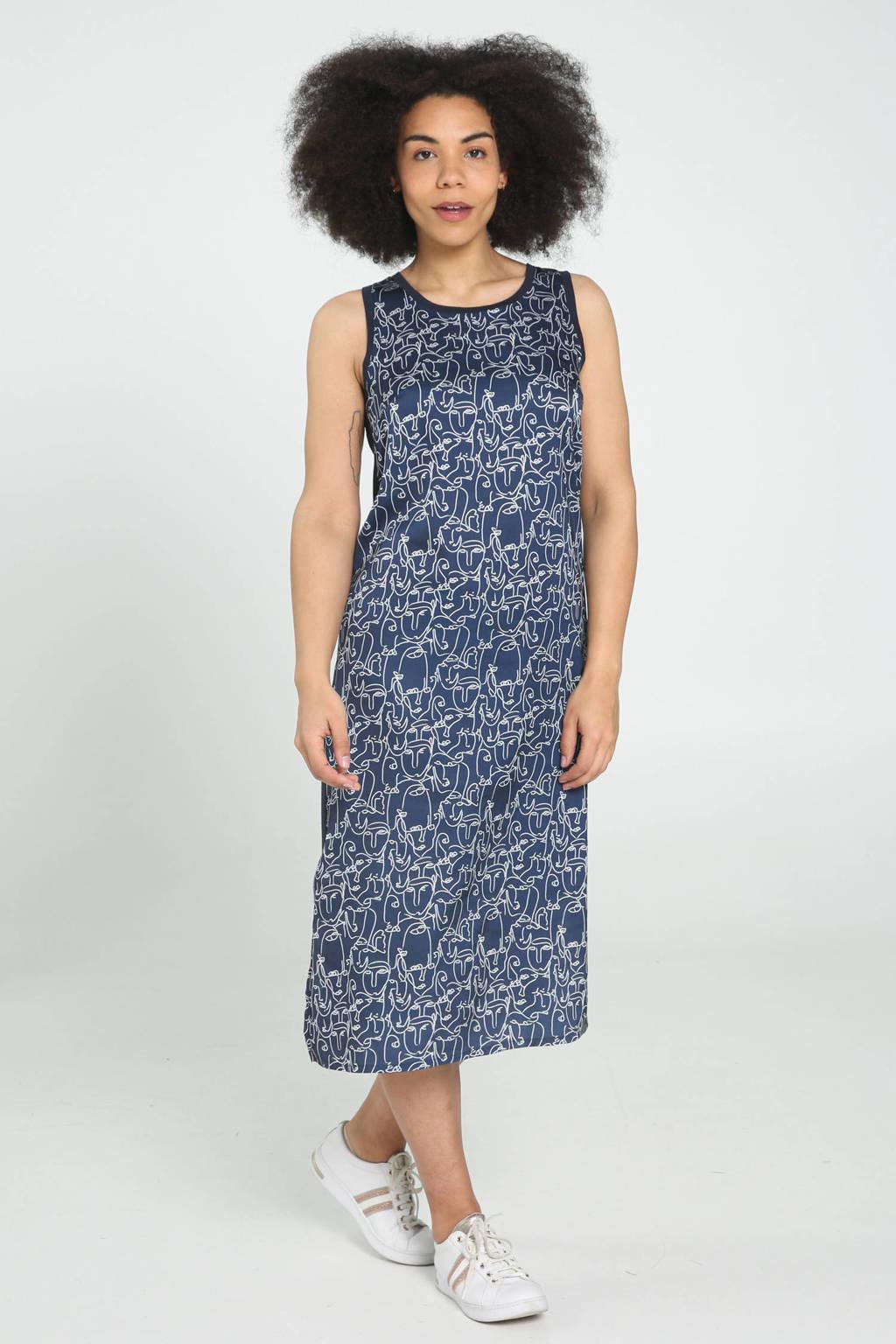 Cassis jurk met all over print marine, Marine
