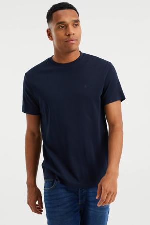 slim fit T-shirt heavy blue