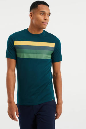gestreept slim fit T-shirt botanic