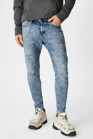tapered fit jeans lichtblauw