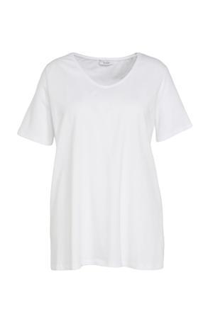 basic T-shirt wit set van 2