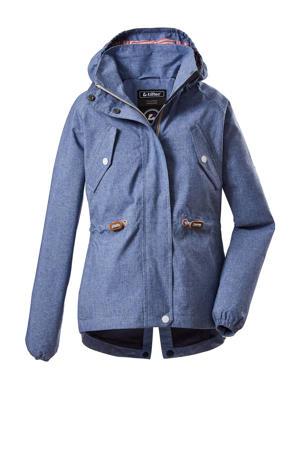 outdoor jas Visby blauw
