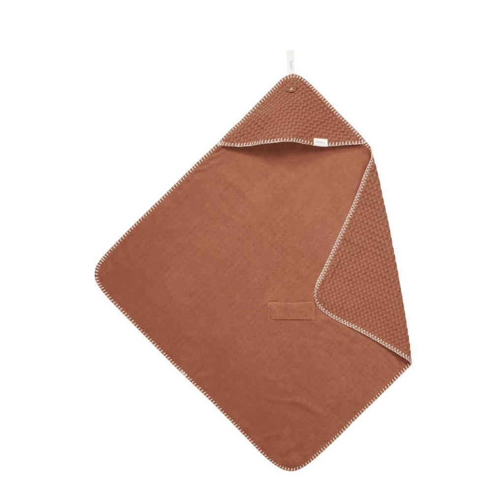 Koeka Antwerp badcape flanel/wafelstof 100x105 cm hazel, Hazel