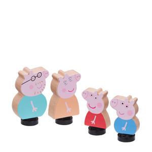 Houten Speelgoed - 4 Figuren - George - Peppa - Daddy- Mummy