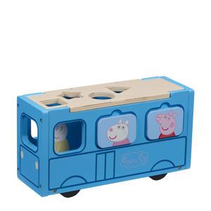 Houten Speelgoed - Schoolbus Inclusief Vormenstoof