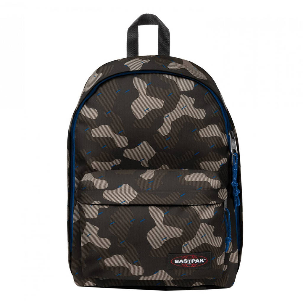 Eastpak  rugzak Out of Office camouflageprint blauw, Blauw camo