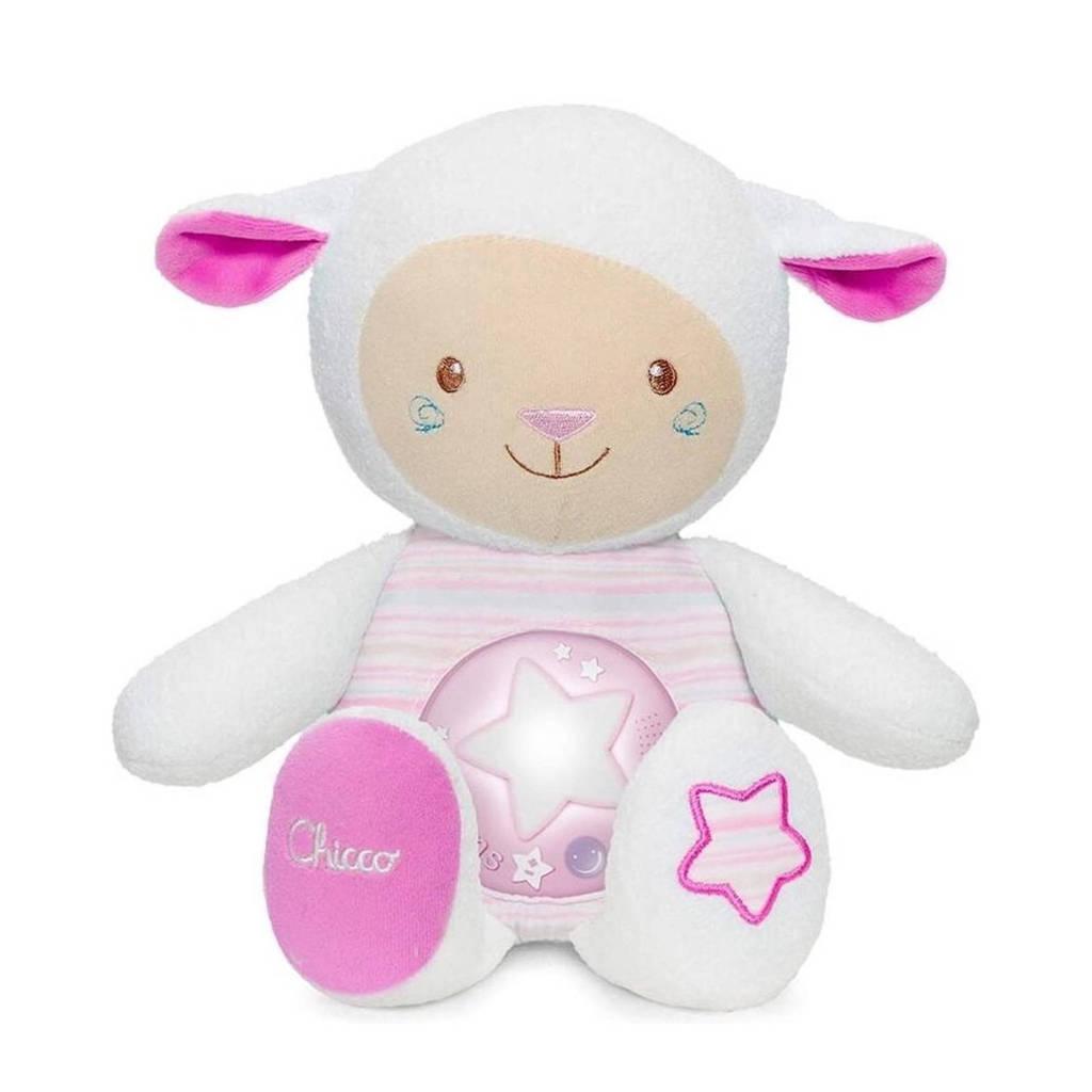 Chicco Zacht schaapje roze interactieve knuffel, Roze