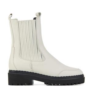 Fae Lina  hoge leren chelsea boots off white