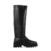 Nubikk Fara Zip  leren chunky laarzen zwart, Zwart