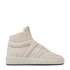 Jiro Dunk Fur  hoge leren sneakers off white