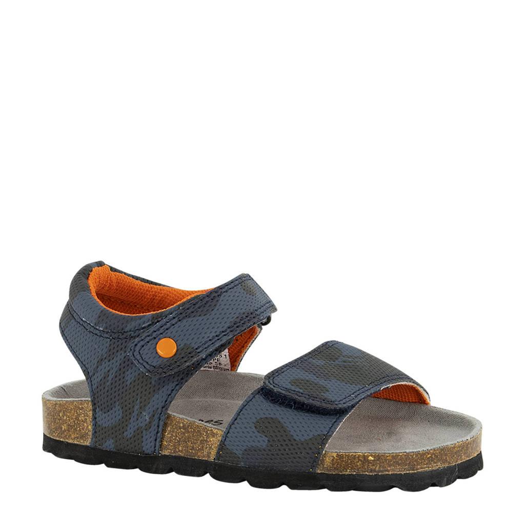 Bobbi-Shoes   sandalen met camouflageprint blauw, Blauw