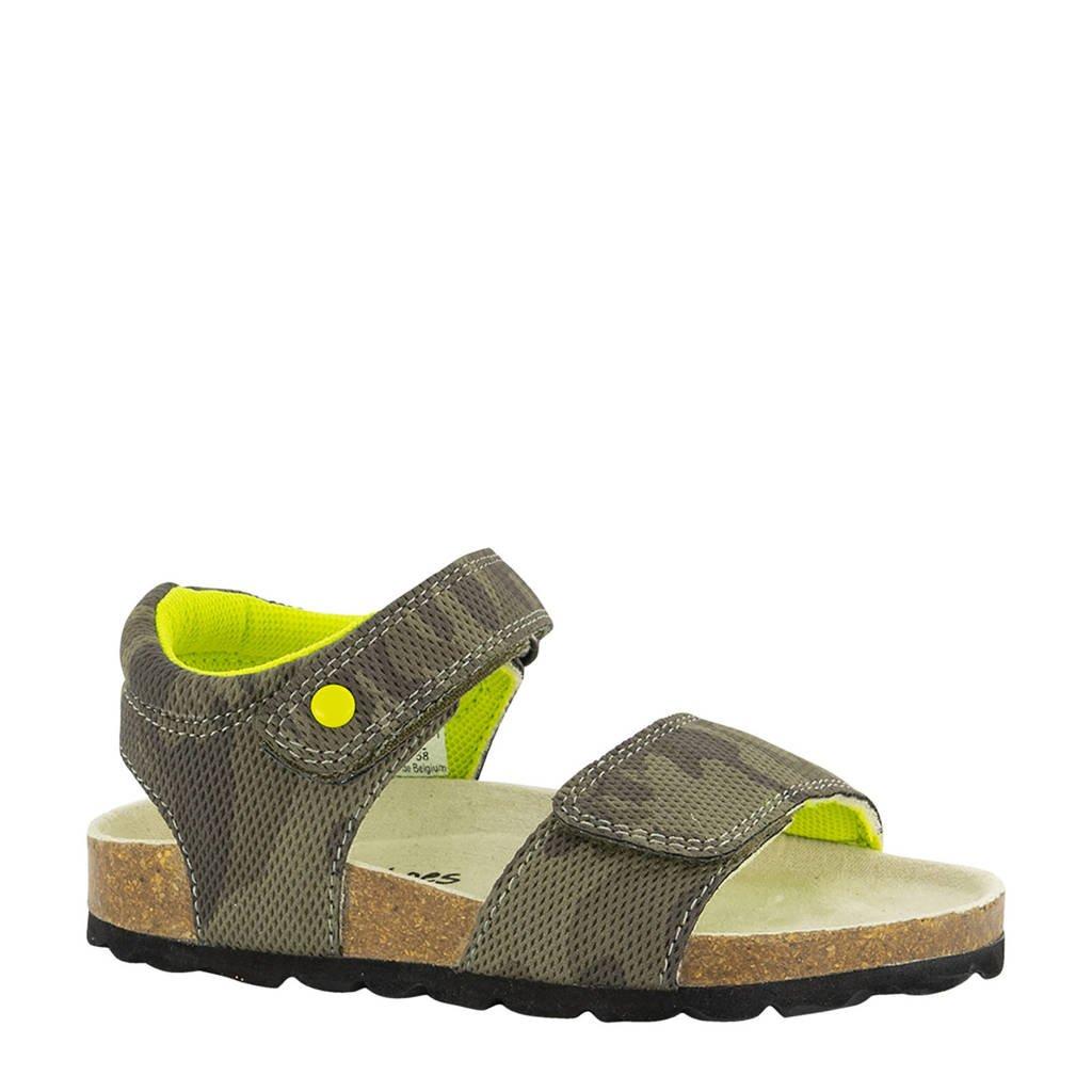 Bobbi-Shoes   sandalen met camouflageprint groen, Groen/Kaki