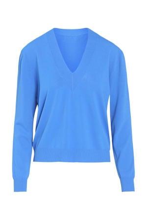 fijngebreide trui bleu bic