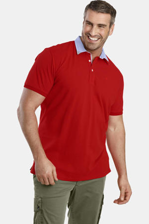 oversized polo EARL OZAN Plus Size rood