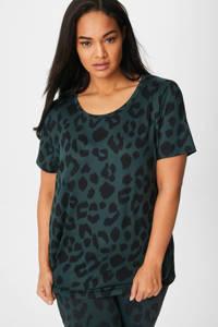 C&A XL Rodeo T-shirt met panterprint donkergroen, Donkergroen